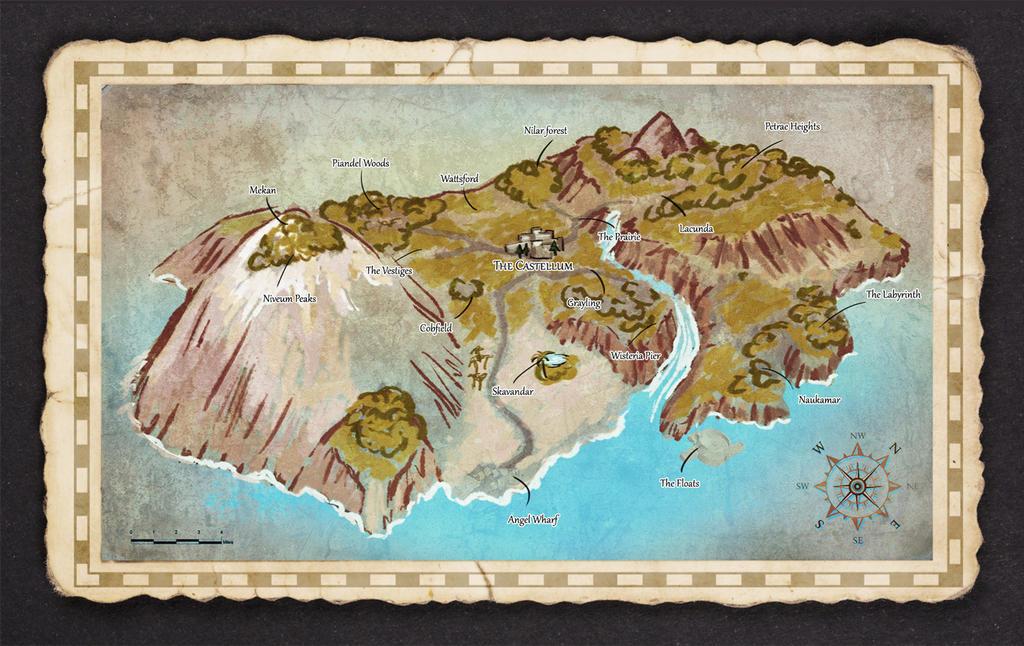 Cedaria: Blackout - Worldmap by Umerean