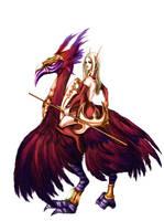 Blood elf on epic hawkstrider by Umerean