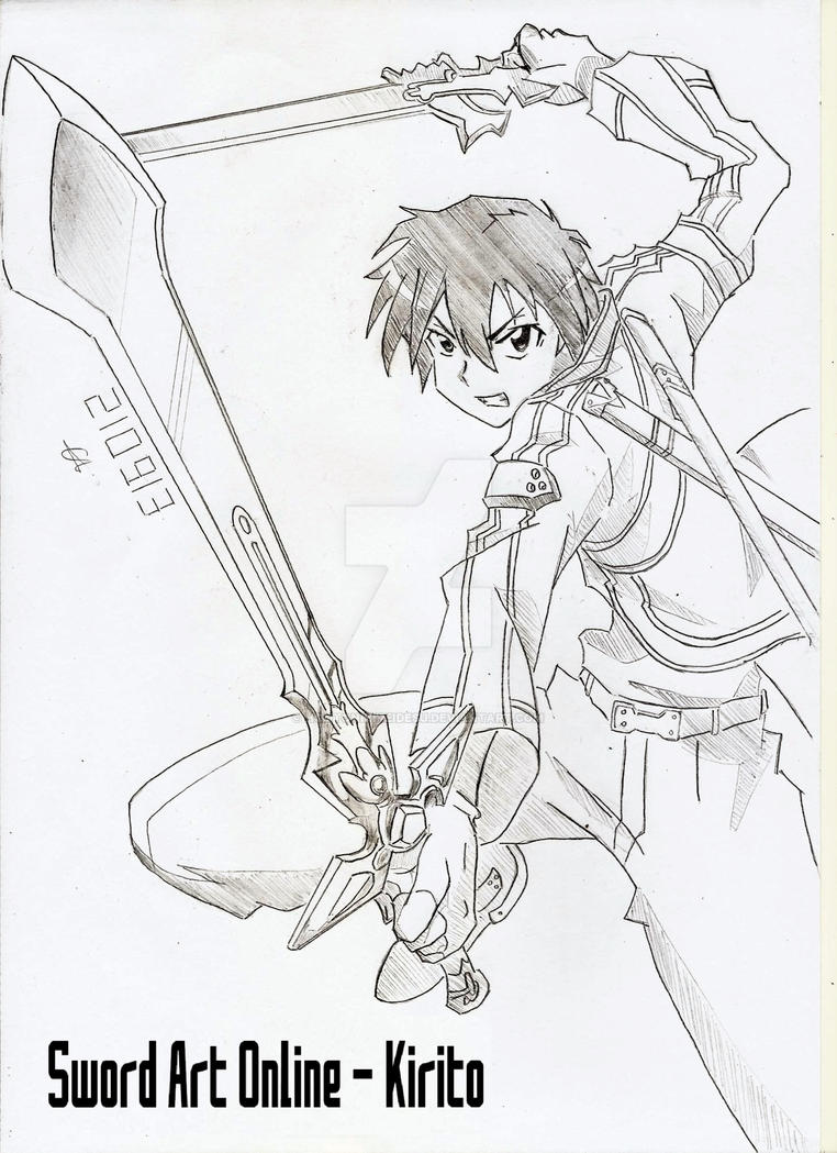 Image Result For Kirito Coloring Page