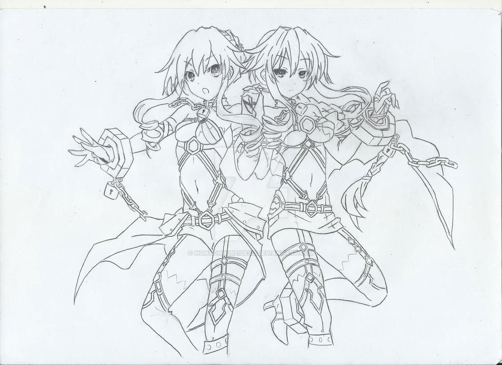 The Line Art And Living : Yamai twins from date a live ll lineart by