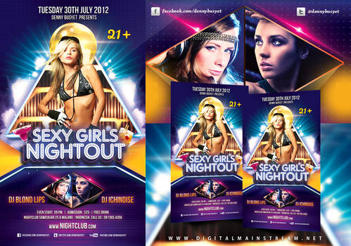 Sexy Girls Night Out Flyer Template
