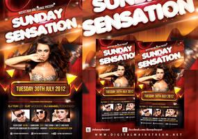 Sunday Sensation Flyer template by dennybusyet