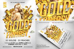 Gold Fantasy Nightclub Psd Flyer Template