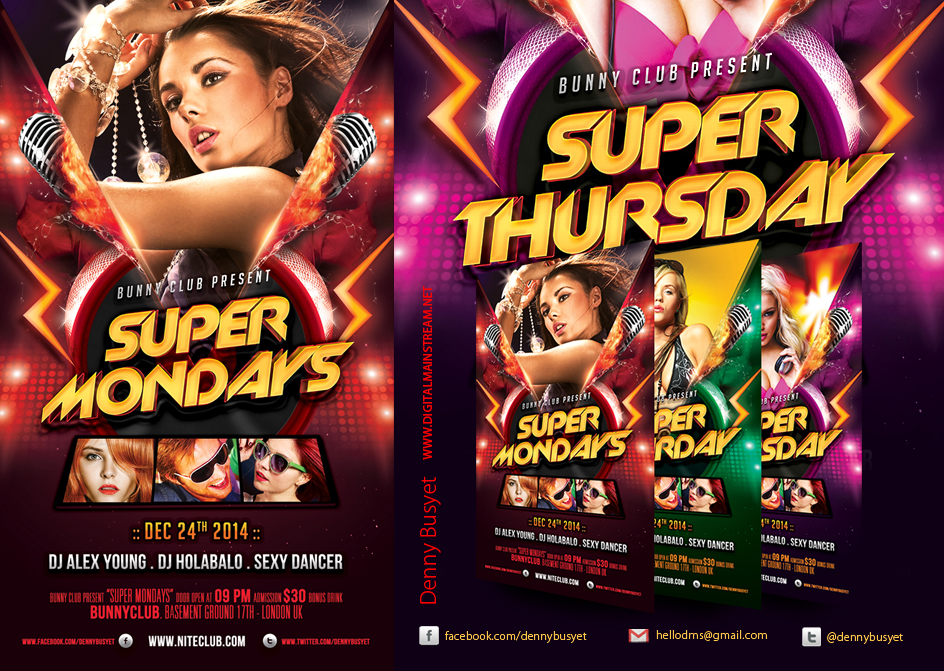 Everyday Party Nightclub Psd Flyer Template By Dennybusyet ...