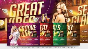 Party Madness Nightclub Psd Flyer Template by dennybusyet