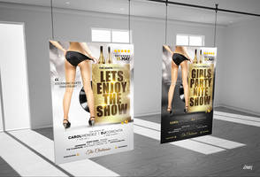 Lets Enjoy The Show Party Flyer Poster Template by dennybusyet