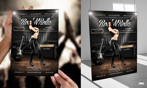 Rock And Roll Music Poster Flyer Template by dennybusyet