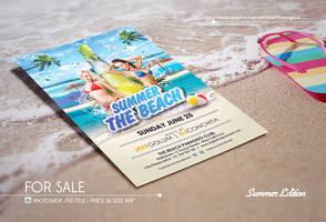 Summer Beach Photoshop Psd Flyer Template by dennybusyet