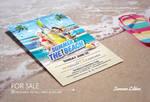 Summer Beach Photoshop Psd Flyer Template