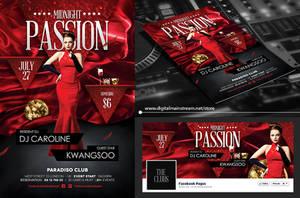 Midnight Passion Nightclub Flyer Design Template by dennybusyet