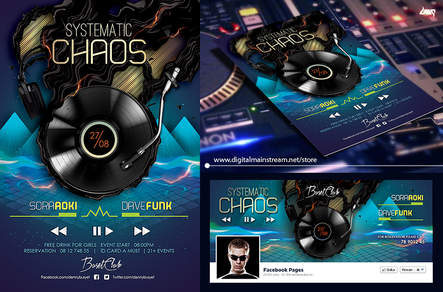 Systematic Chaos Nightclub Flyer Template Psd File By Dennybusyet On