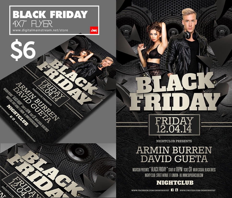 Black Friday Club Flyer Template Psd Download by dennybusyet on – Black Flyer Template