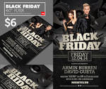 Black Friday Club Flyer Template Psd Download
