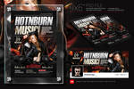 Hot And Burn Club Music Flyer + Facebook Cover