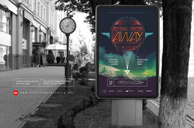 Take Me Away Electro Music Poster Template by dennybusyet