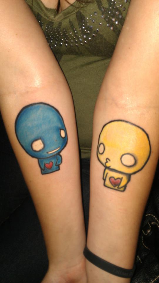 Pon and Zi tattoo by BleedingRosePedal