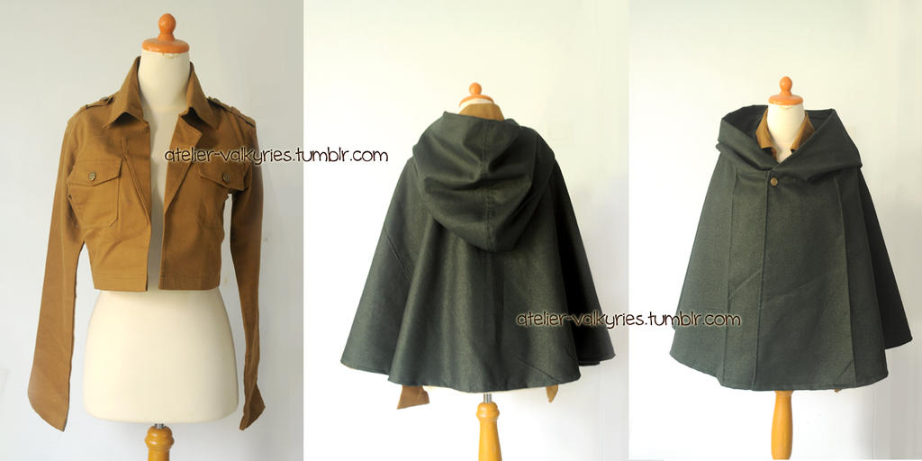 Attack on Titans jacket and cloak by oruntia