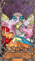 Tarot Strength Fluttershy by SourSketches