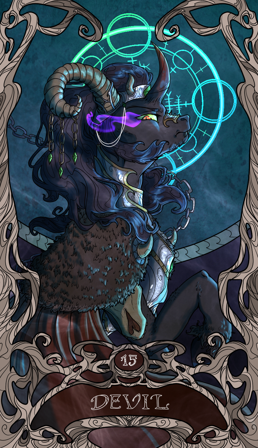 Tarot Devil Sombra by SourSketches