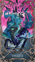 Tarot Queen Chrysalis Tower by SourSketches