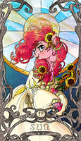 Tarot Pinkie Pie Sun by SourSketches