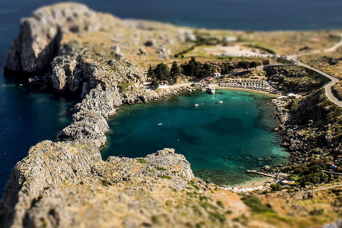 Greece - Lindos 'tilt-shift by b3dnar