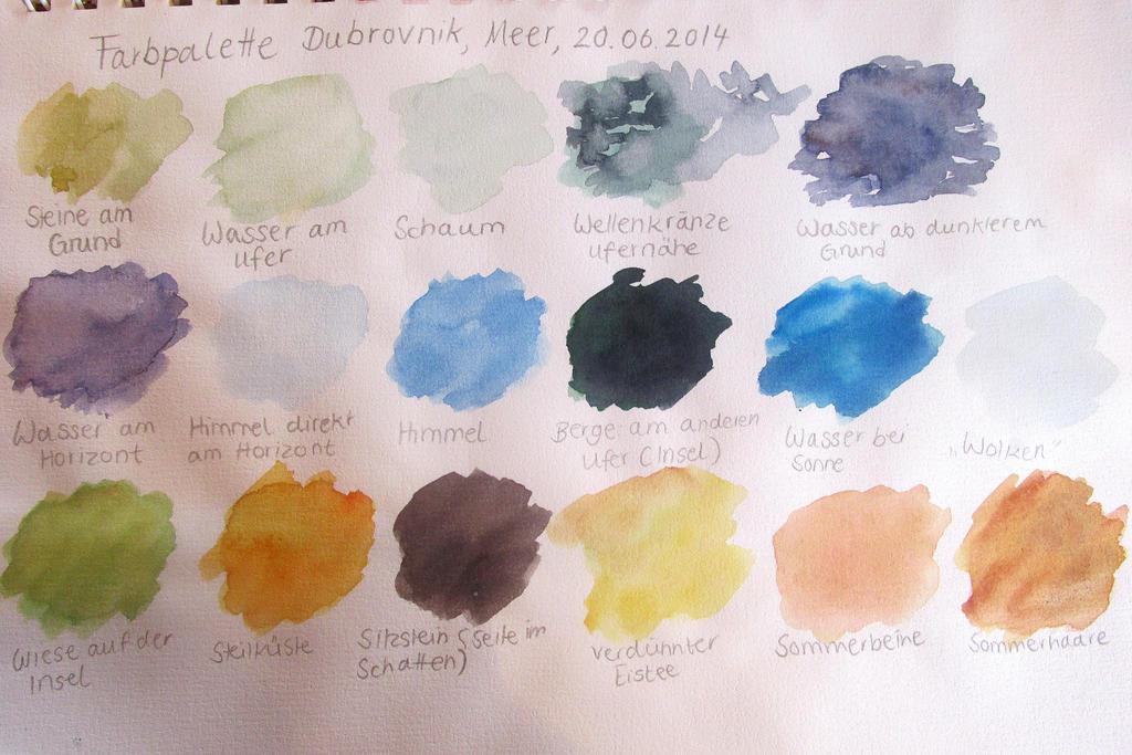 Color scheme Croatia (travel sketchbook) by FrederikeLisabet