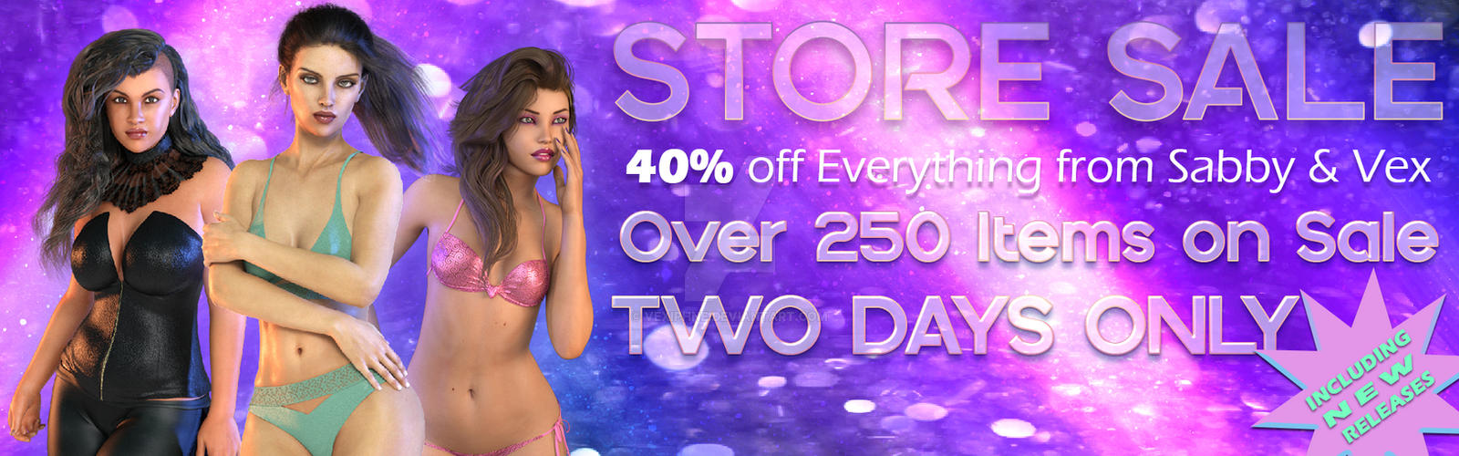 Store Sale @ Renderosity - EVERYTHING 40% Off by vexiphne