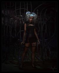 Spider Goth Fairy by vexiphne