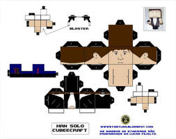 Han Solo Cubee template by paulinone