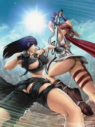 Lightning vs Tifa by ecchi-mia