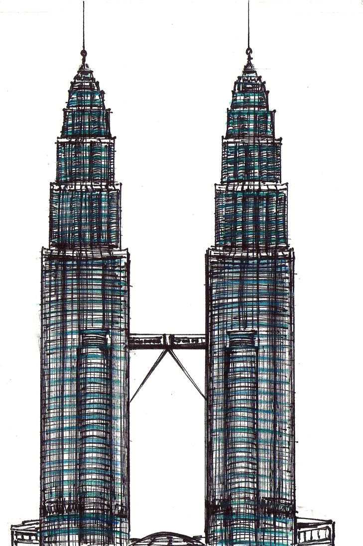 This is a photo of Sassy Twin Towers Drawing