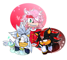 Amy, Shadow and Silver Genderbend ( Art Contest )