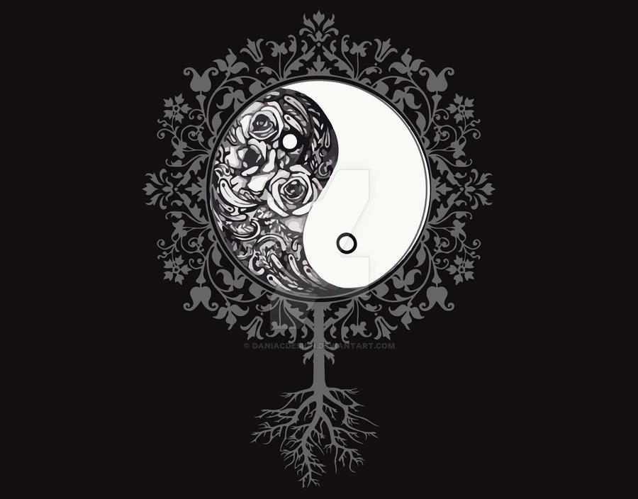 Yin Floral Yang by daniacdesign