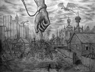 The God's Hand by ColourBlindPencil