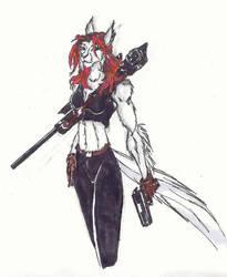 Nightshade as an anthro by darklion