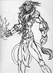 Magestic lion by darklion