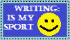 Writing is my sport