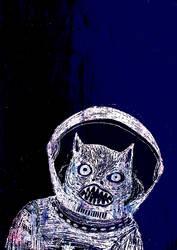 Cosmonaut Cat by trzytrzy