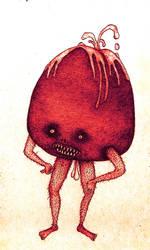 Mr. Strawberry with cream by trzytrzy