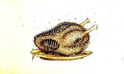 Spaghetti bird 2 by trzytrzy
