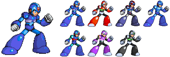 Megaman X MvC by Pixelated-Dude