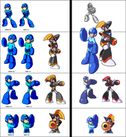 Mega Man and Bass PixelArt by Pixelated-Dude