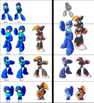 Mega Man and Bass PixelArt