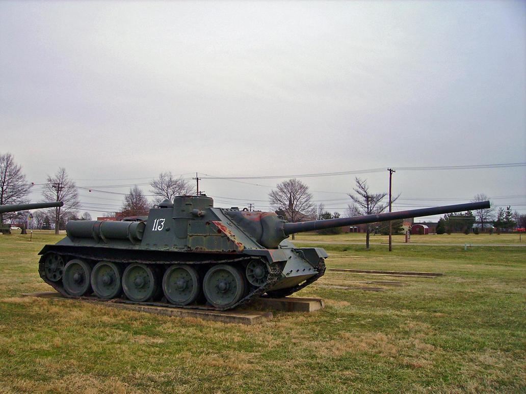 SU-100 Tank Destroyer by DarkWizard83