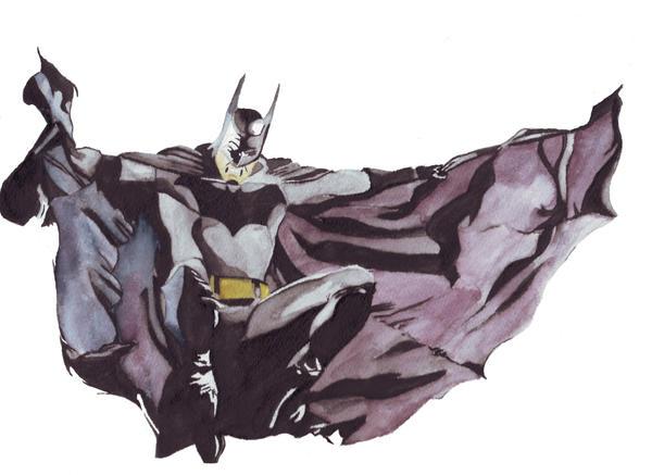 Batman Watercolor by HSArt