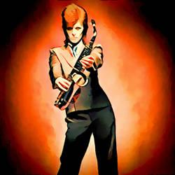 David Bowie Red