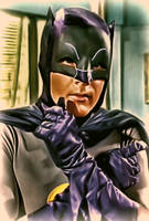 Batman portrayed by Adam West by petnick