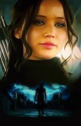 Jennifer Lawrence as Katniss Everdeen by petnick