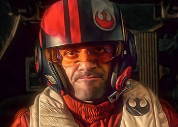 Poe Dameron in Cockpit (Oscar Isaac) by petnick